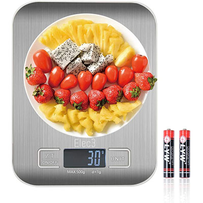 elec3 digital multifunction kitchen and food scale