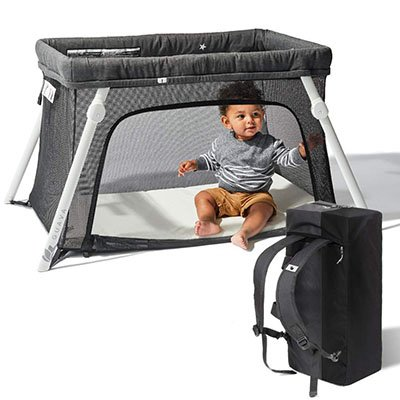 lotus travel crib and portable
