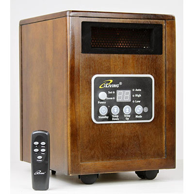new iliving infrared portable space heater with dual heating system