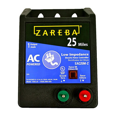 zareba eac25m electric fence charger