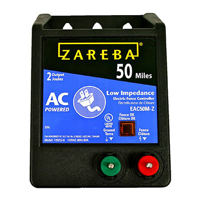 zareba eac50m z electric fence charger